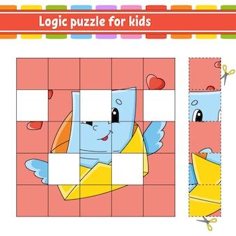 아이들을위한 논리 퍼즐. 교육 개발 워크 시트.