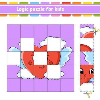 Логическая головоломка для детей. рабочий лист развития образования.