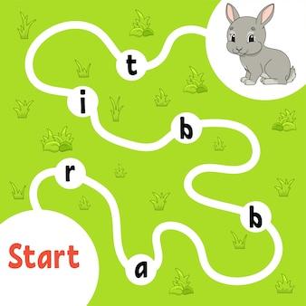 Logic puzzle game childish activities