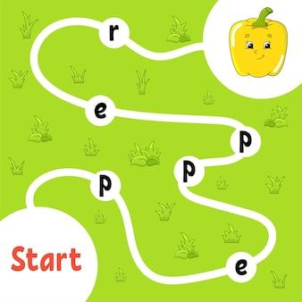 Логическая игра-головоломка. учим слова для детей.