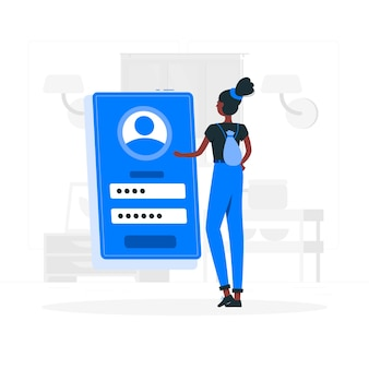 Login concept illustration