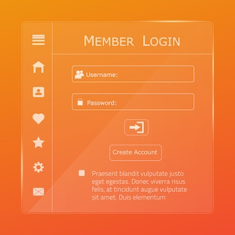 Login form page.