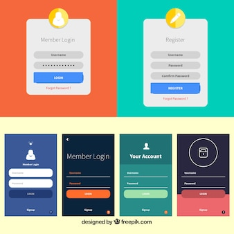 Login form template collection