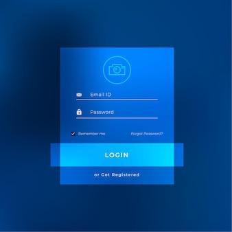 Дизайн страницы шаблона интерфейса входа в систему
