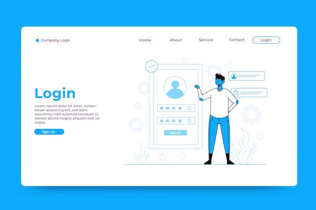 Login landing page template