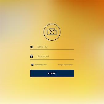 ラインスタイルのログインページテンプレートデザイン