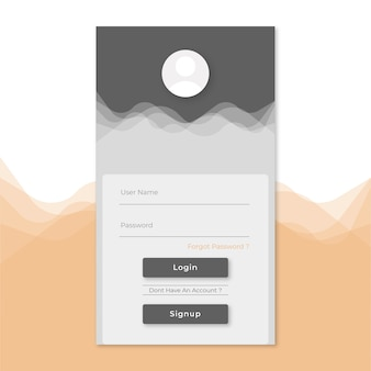 Login signup page template
