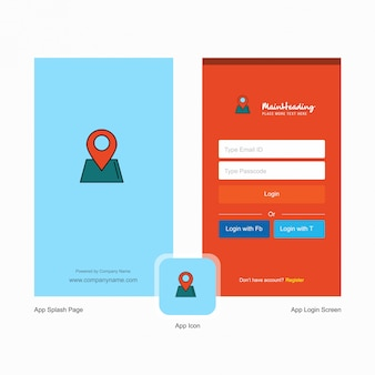 Login and signup web form design template.
