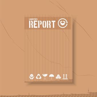 ロジスティック年次報告書テンプレートデザインをカバーします。