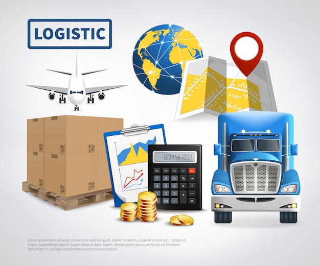 Logistic colored template