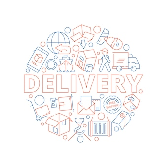Logistic concept. global delivery cargo service shipment