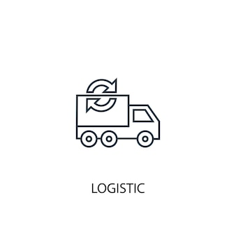 Logistic concept line icon. simple element illustration. logistic  concept outline symbol design. can be used for web and mobile ui/ux
