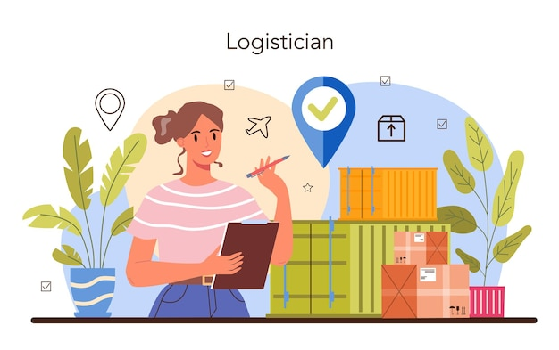 Logistic and delivery service concept idea of transportation
