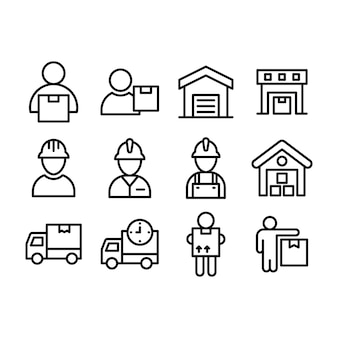 Logistic delivery service icons