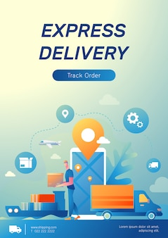 Logistic and e-commerce poster