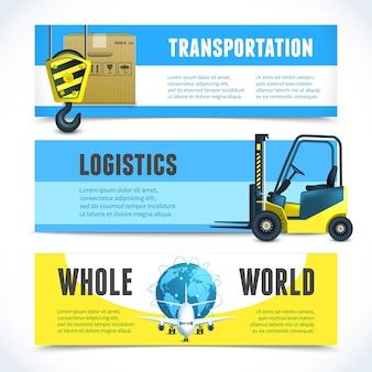Logistic horizontal banners