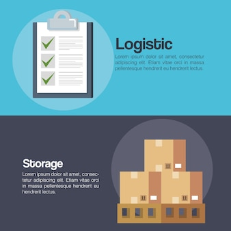 Logistic service business icons