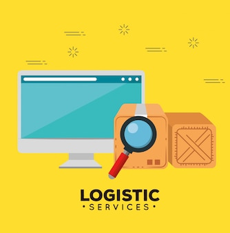 Logistic services with computer