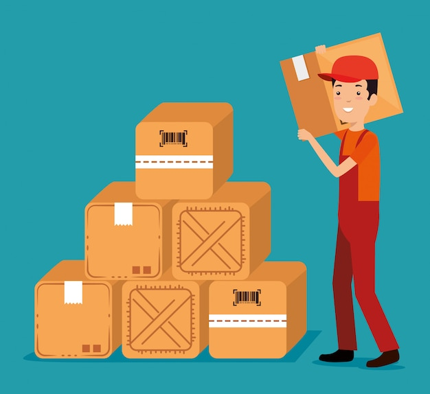 Logistic services with delivery worker