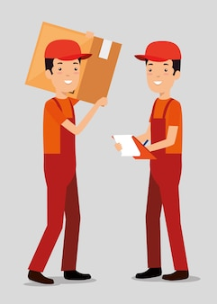 Logistic services with team delivery workers