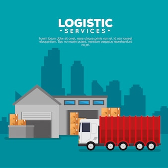 Logistic services with warehouse building