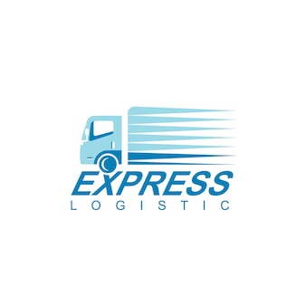 Logistic truck logo design vector