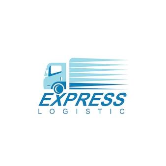 ロジスティックトラックのロゴデザインベクトル