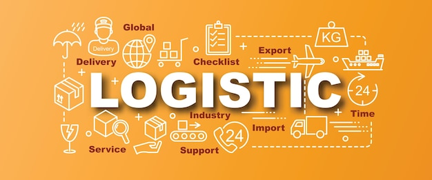 Logistic vector trendy banner