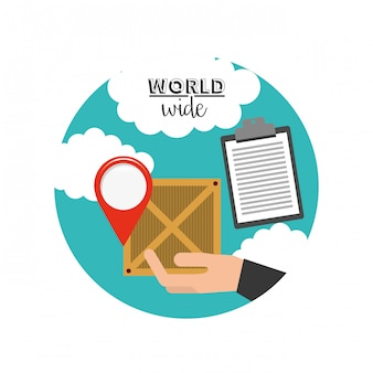 Logistic world wide concept
