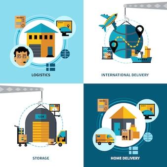 Logistics 2x2 concept set