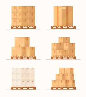 Логистика и служба доставки значков изолированы. почтовая служба креативный дизайн иллюстрация