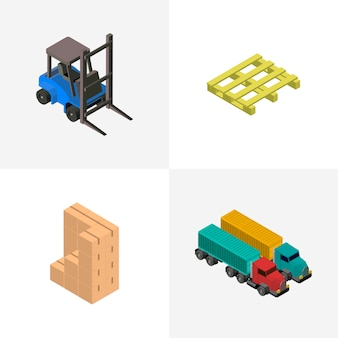 Logistics business industrial isolated icon on background