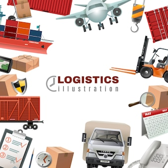 Logistics colorful template