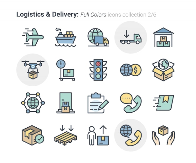 Logistics & delivery icons collection