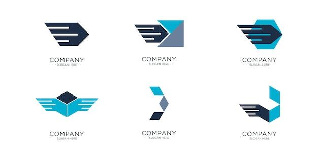 Логотип дизайна логистики