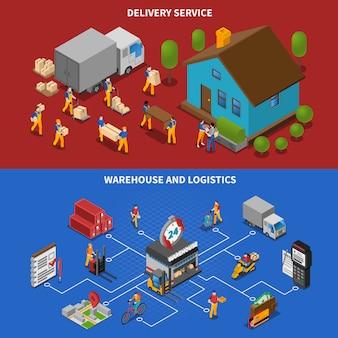 Logistics elements and characters set