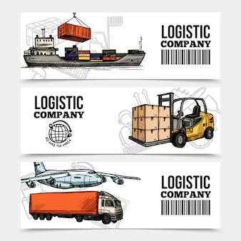 Logistics horizontal banners