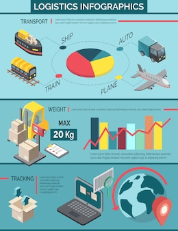Logistics infographic set