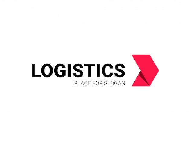 Logistics logo arrow express delivery