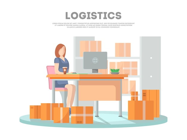 Logistics poster with services operator