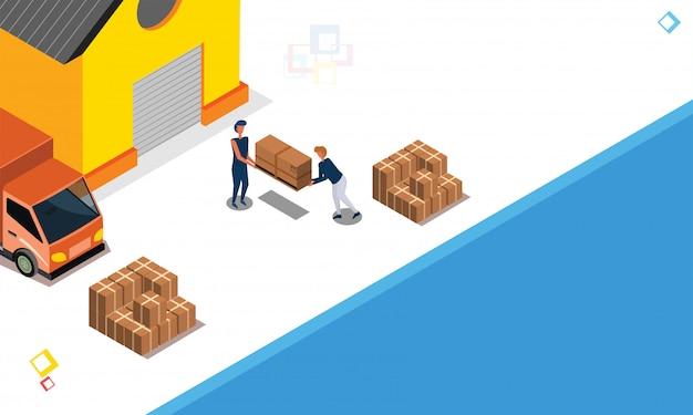 Logistics or transportation concept.