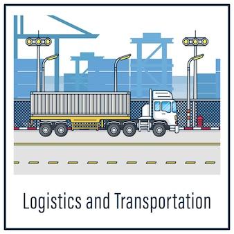 Logistics and transportation Premium Vector
