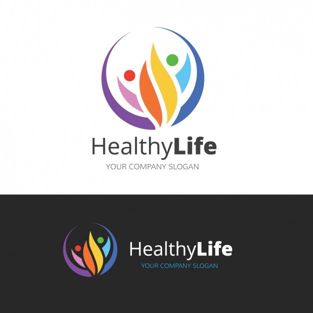 Logo about a healthy lifestyle