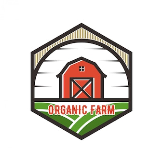 Logo for the agricultural industry with barn element