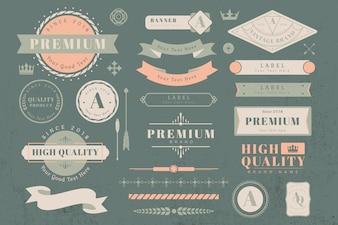 Элементы дизайна логотипа и баннера