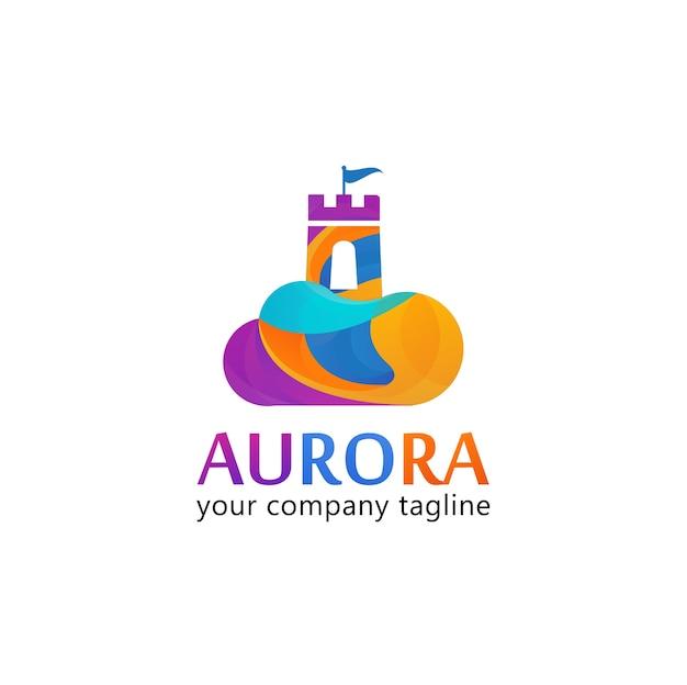 Logo aurora fullcolor castle