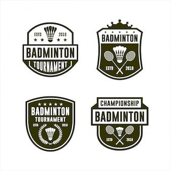 Logo badminton tournament vector collection