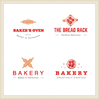 Logo of bakery design for restaurant and cafe