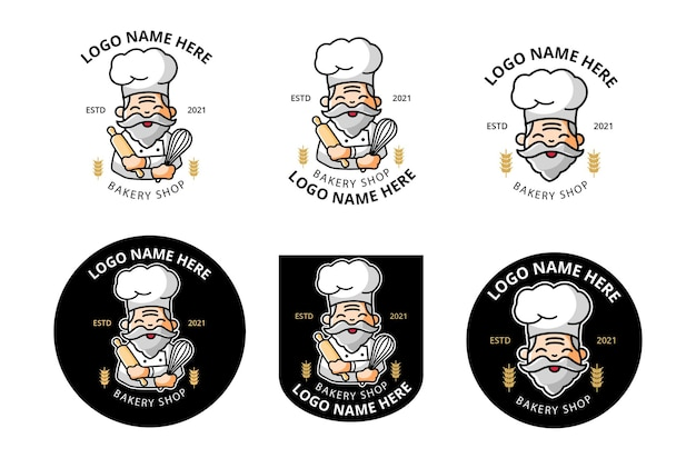 Logo bakery shop or chef as mascot