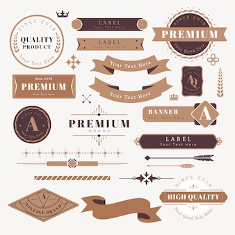 Logo and banner design elements